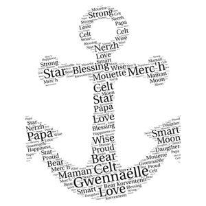 anchor word art