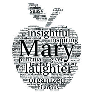 Apple word art print
