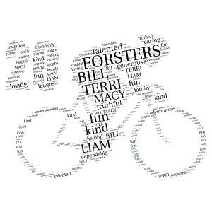 Bike 20th word art print