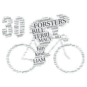 Bike 30th word art print
