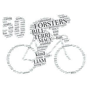Bike 50th word art print