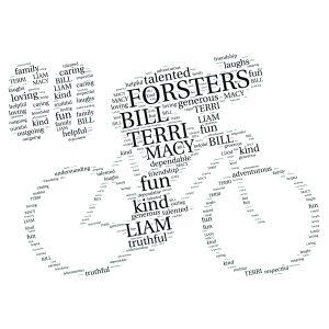Bike 60th word art print