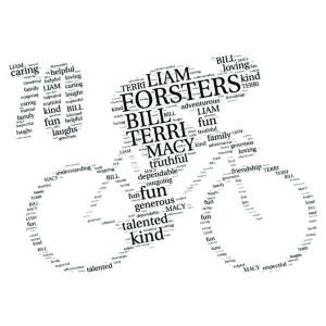 Bike 70th word art print