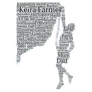 Climber word art print