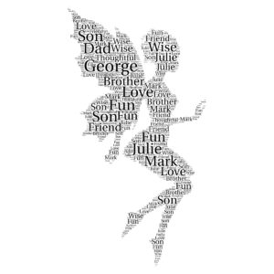 Fairy word art print