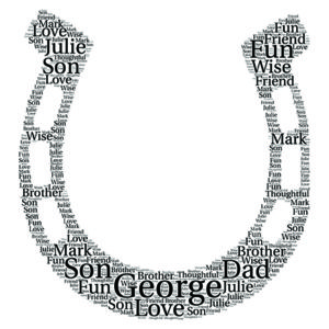 Horse Shoe word art
