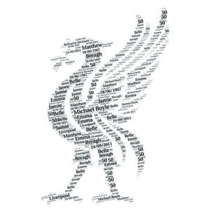 Liverpool word art print