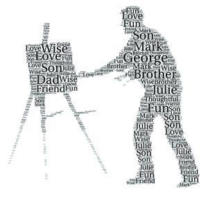 Painter word art print