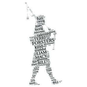 Piper word art print