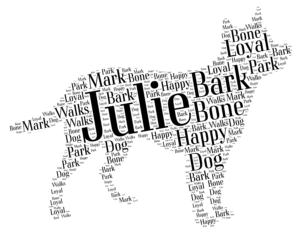 australian cattle dog word art