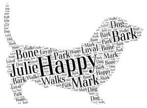 basset hound word art