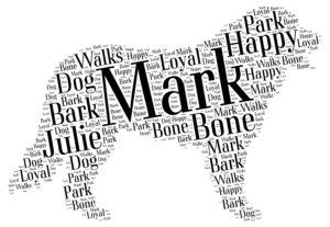 bernese mountain dog word art