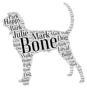 black and tan coonhound word art