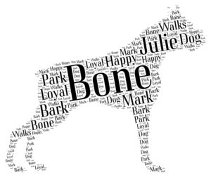boxer dog word art