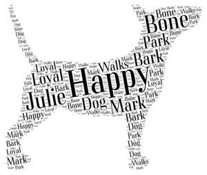 bull terrier word art