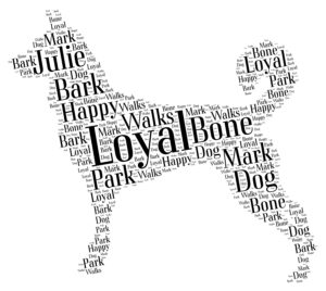 canaan dog word art