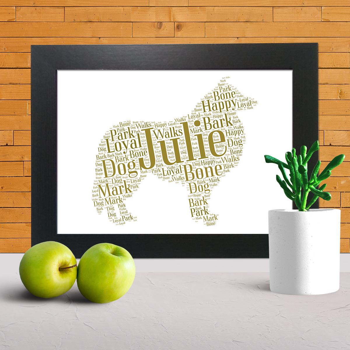 collie word art