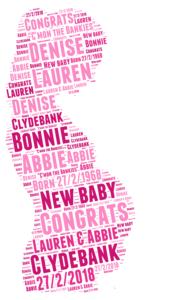 Pregnancy word art