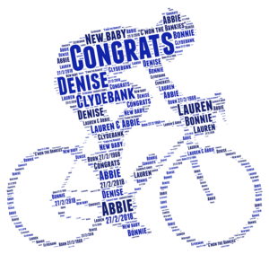 Cyclist word art print
