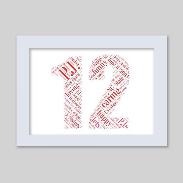 12 of Word Art Prints
