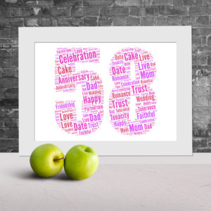 Create your own word art canvas prints