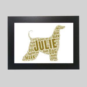 Afghan Hound Dog of Word Art Prints