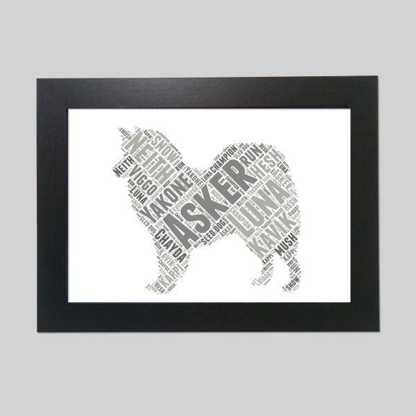 American Eskimo Dog Brown of Word Art Prints