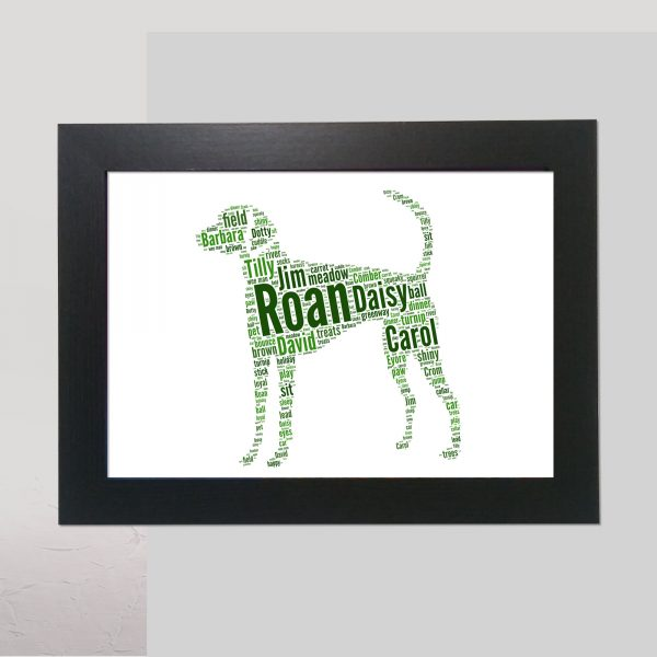American Foxhound Brown of Word Art Prints