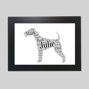 American Staffordshire Terrier Brown of Word Art Prints
