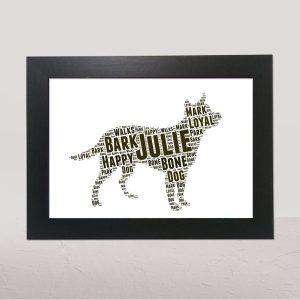 Australian Cattle Dog Brown of Word Art Prints