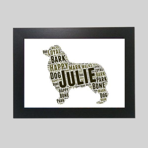 Australian Shepherd Brown of Word Art Prints