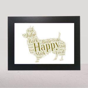 Australian Terrier Brown of Word Art Prints