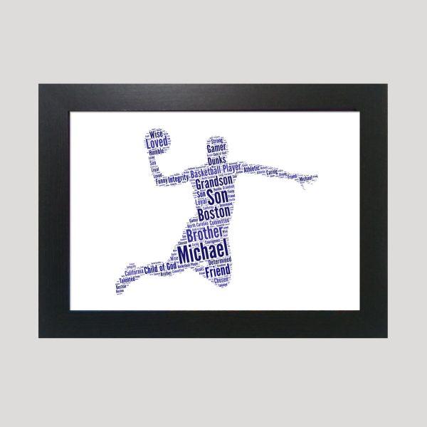 Basketball of Word Art Prints
