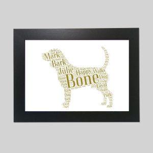 Beagle Brown of Word Art Prints