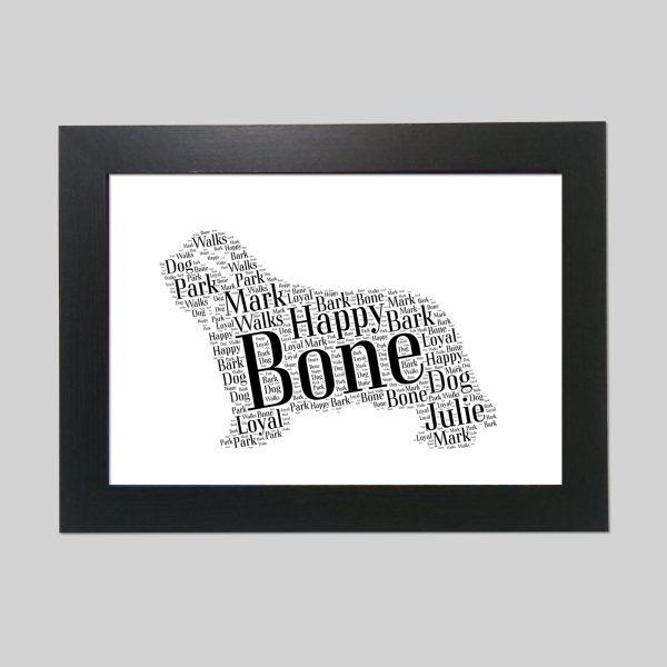 Bearded Collie Brown of Word Art Prints