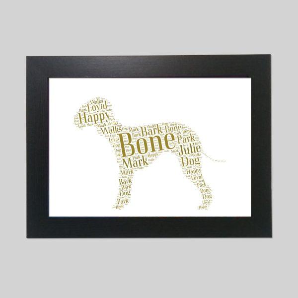 Bedlington Terrier Brown of Word Art Prints