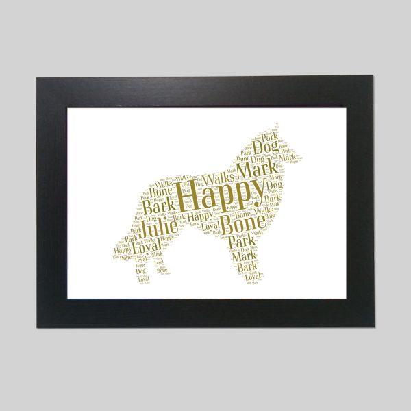 Belgian Sheepdog of Word Art Prints