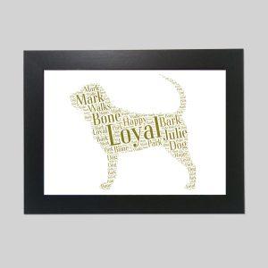 Bloodhound of Word Art Prints
