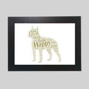Boston Terrier of Word Art Prints