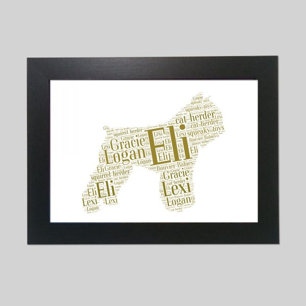 Bouvier des Flandres of Word Art Prints