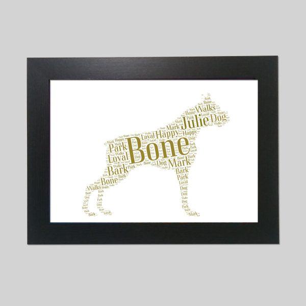 Boxer Dog of Word Art Prints