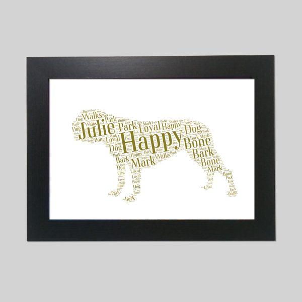Bulldog of Word Art Prints