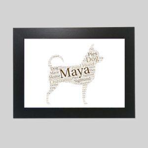 Chihuahua of Word Art Prints