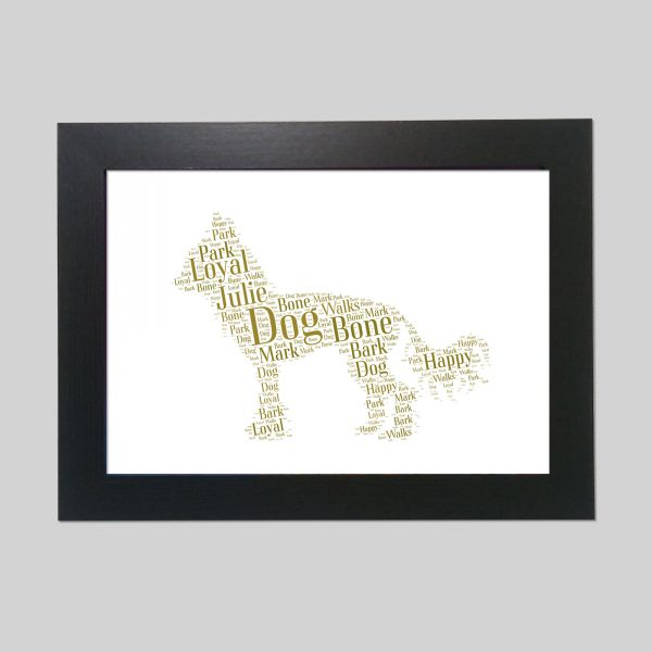 Chinese Crested Dog of Word Art Prints