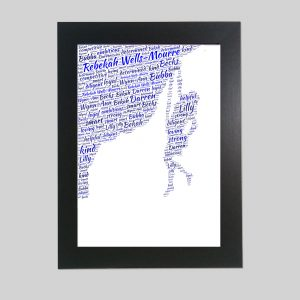 Climber of Word Art Prints