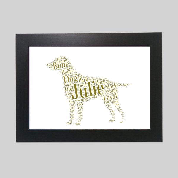 Curly-Coated Retriever of Word Art Prints