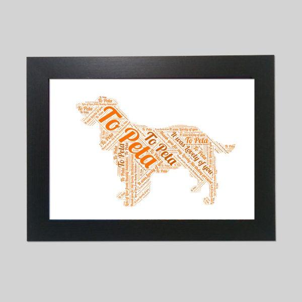 English Cocker Spaniel of Word Art Prints
