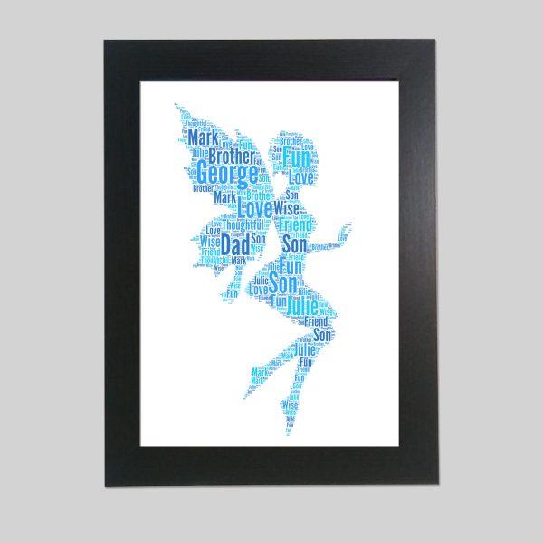 Fairy of Word Art Prints