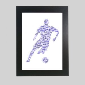 Footballer of Word Art Prints