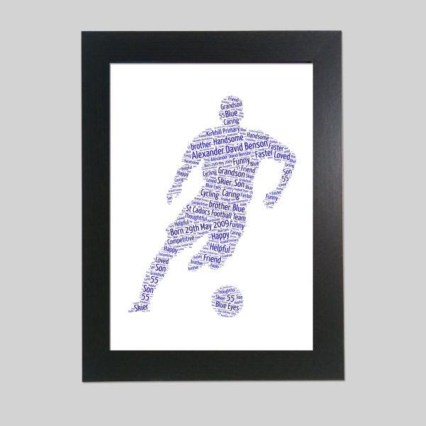 Footballer of Word Art Prints